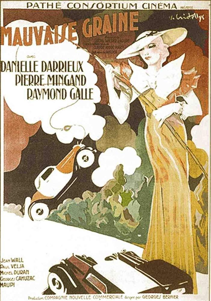 Mauvaise graine poster, copyright in handen van productiestudio en/of distributeur