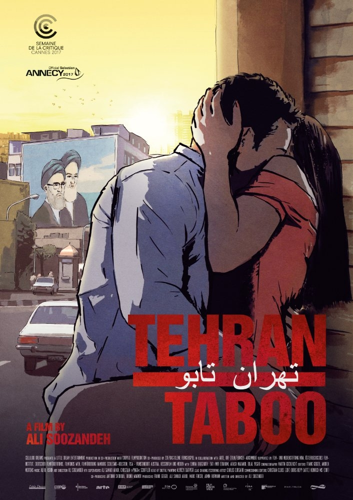 Tehran Taboo poster, copyright in handen van productiestudio en/of distributeur