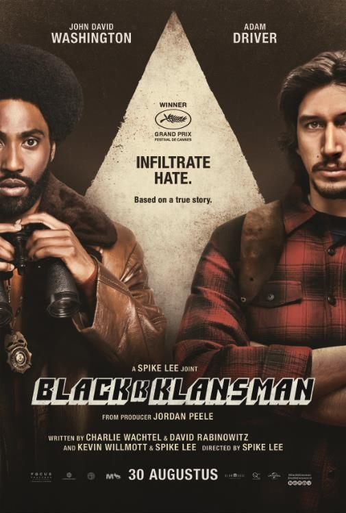 BlacKkKlansman poster, © 2018 Universal Pictures International