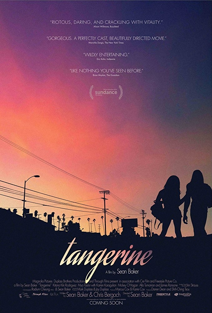 Tangerine poster, copyright in handen van productiestudio en/of distributeur