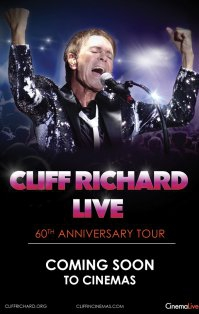 Cliff Richard - 60th Anniversary Tour poster, copyright in handen van productiestudio en/of distributeur