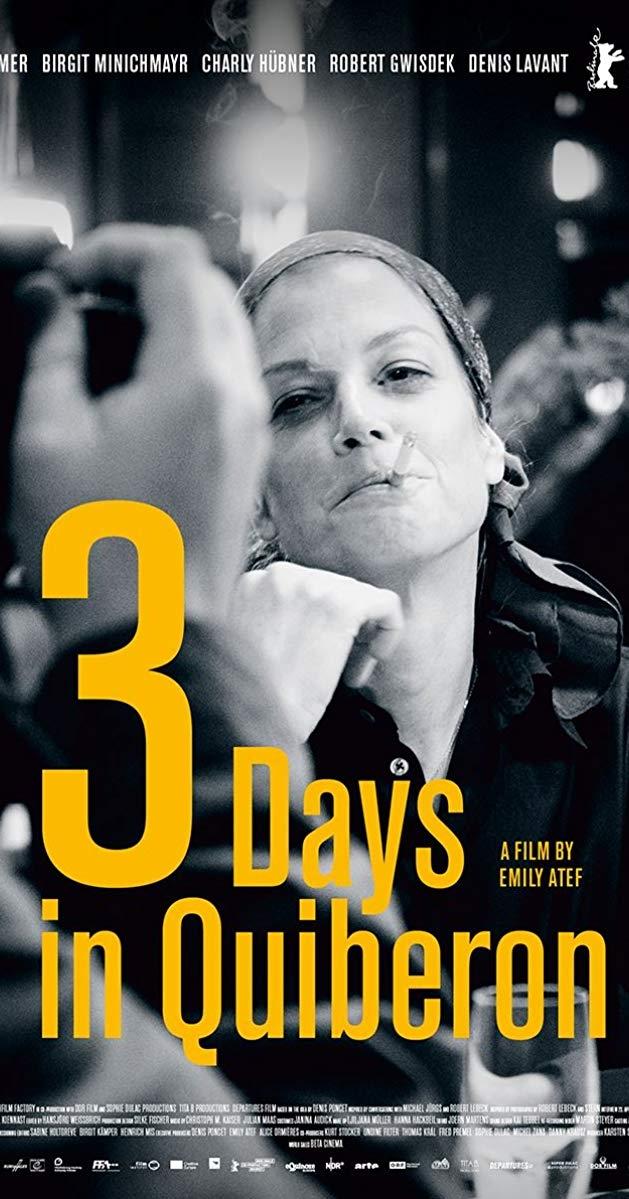 3 Days in Quiberon poster, © 2018 Contact Film