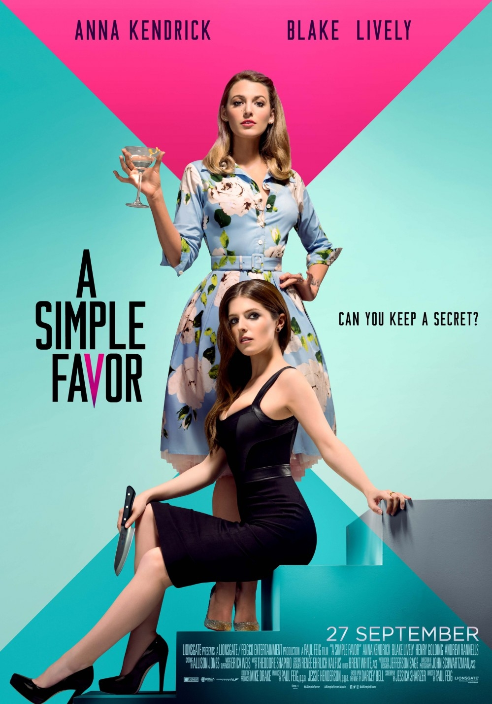 A Simple Favor poster, © 2018 Independent Films
