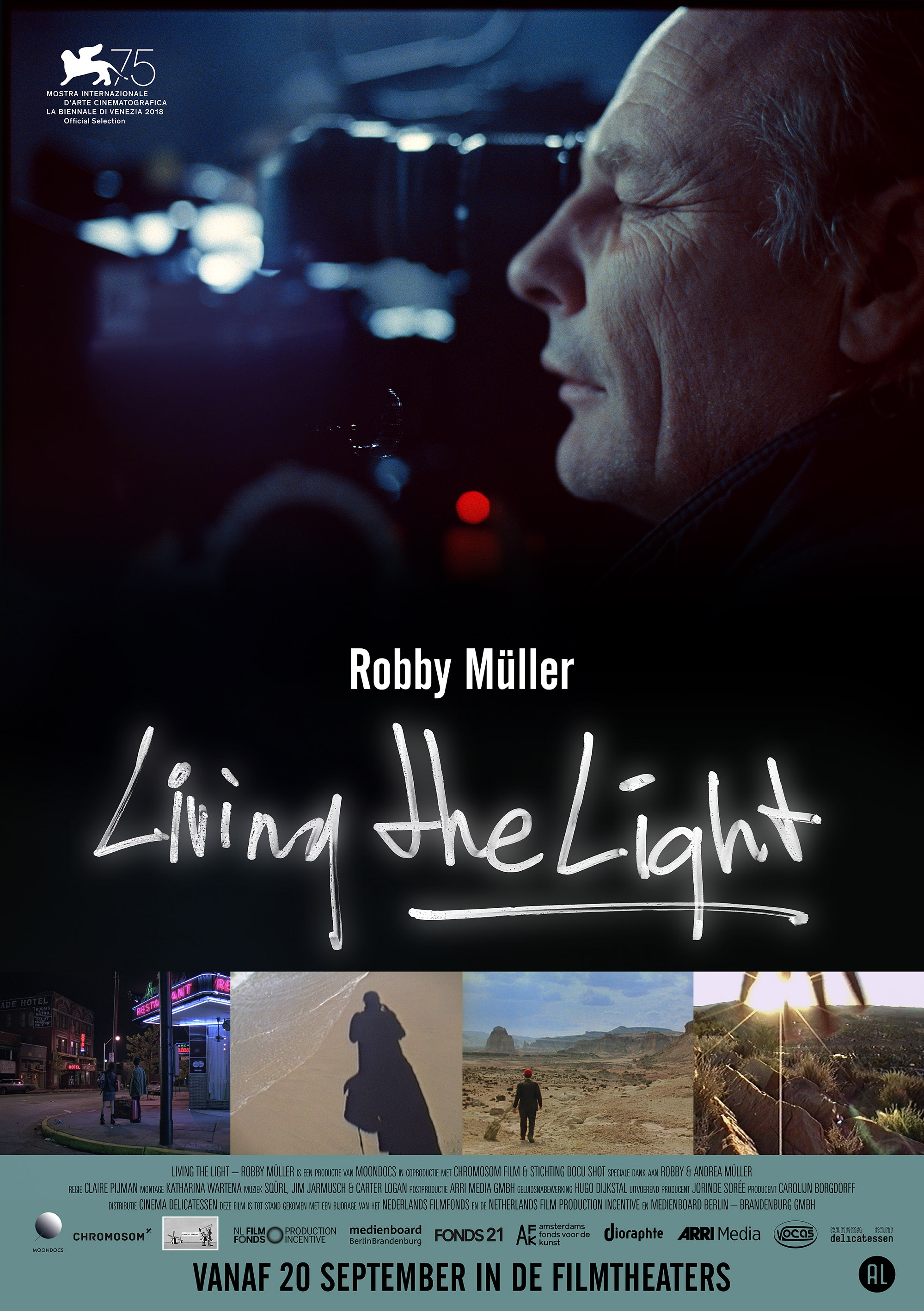 Living the Light - Robby Müller poster, © 2018 Cinema Delicatessen