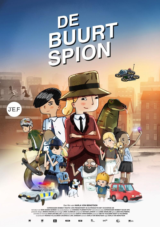 Next Door Spy poster, copyright in handen van productiestudio en/of distributeur
