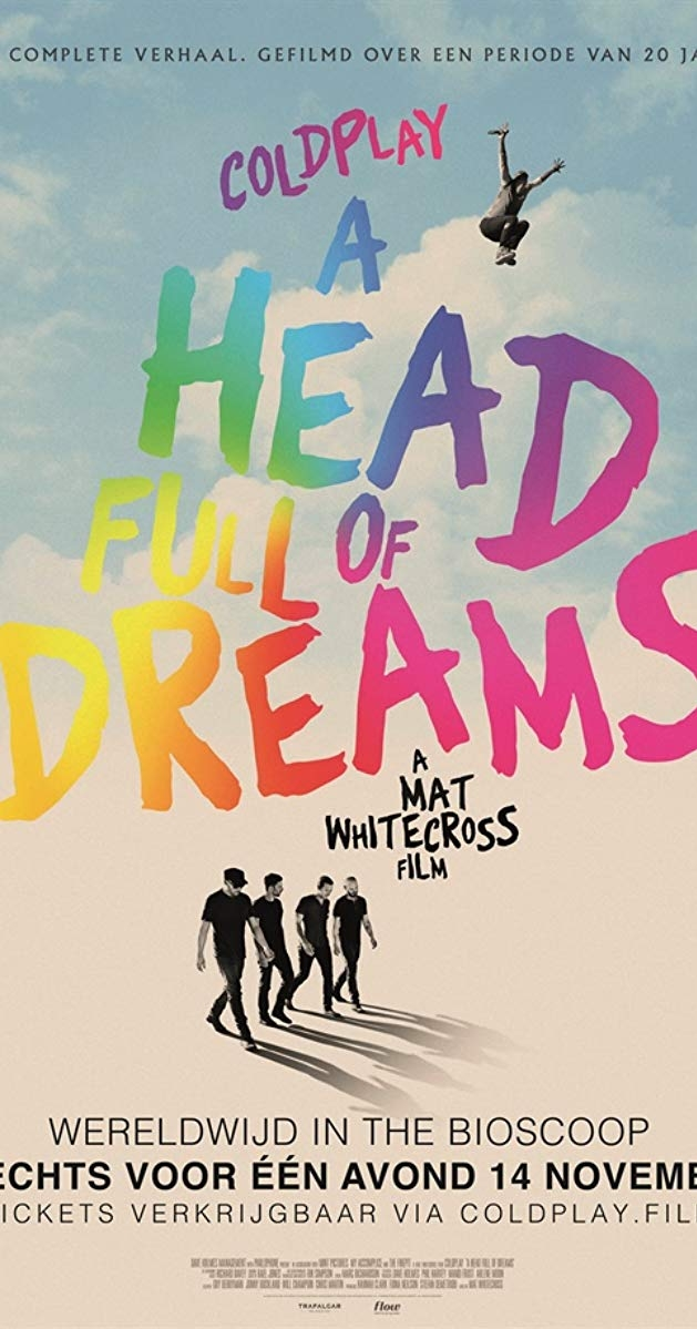 Coldplay: A Head Full of Dreams poster, copyright in handen van productiestudio en/of distributeur