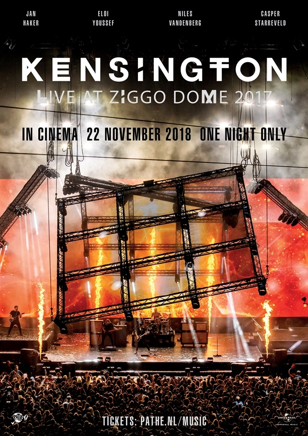 Kensington Live at Ziggo Dome 2017 poster, copyright in handen van productiestudio en/of distributeur