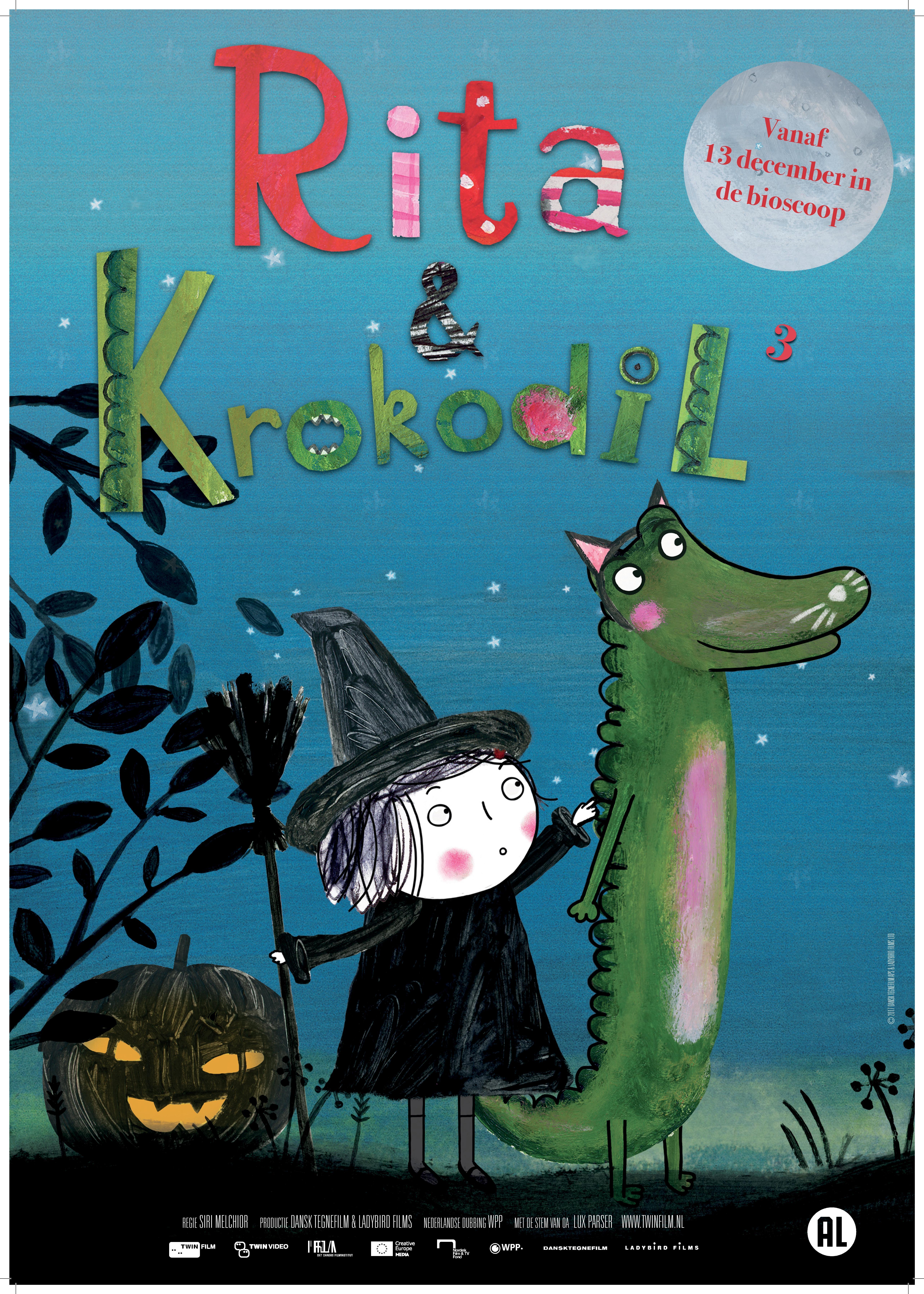 Rita og Krokodille (NL) poster, © 2014 Twin Film
