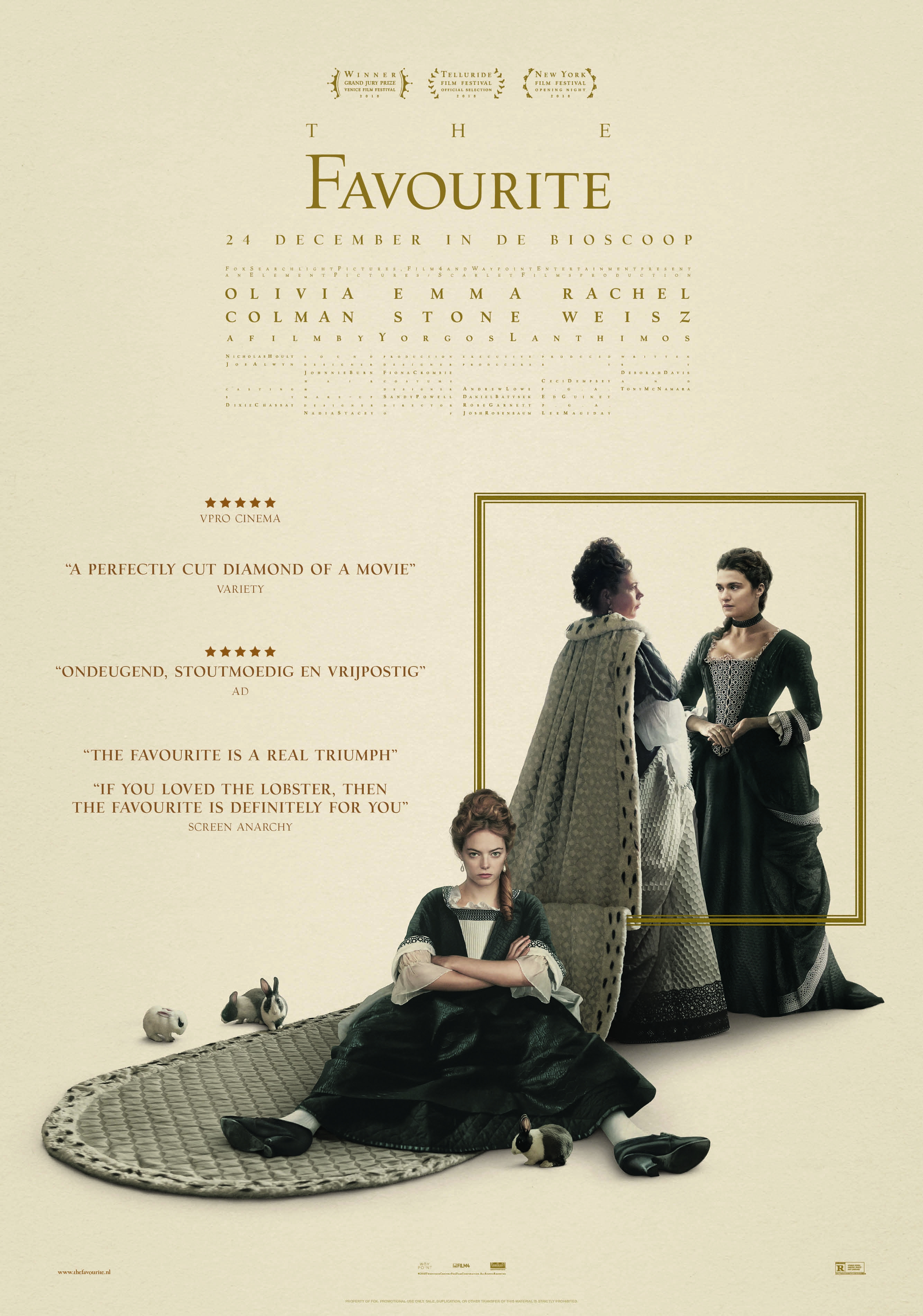 The Favourite poster, © 2018 20th Century Fox