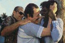 Nicholson en Caine worden overmand door lust en inhaligheid (c) 1996 Movie 1.