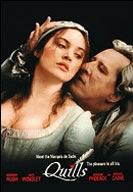 Wasmeisje (Kate Winslet) verleid door de Markies de Sade (Geoffrey Rush) tijdens zijn verblijf in het gekkenhuis (c) 2000 Fox