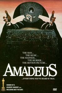 poster van 'Amadeus' © 1984 The Saul Zaentz Company