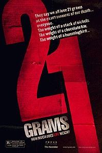 poster '21 Grams' © 2004 Paradiso Entertainment