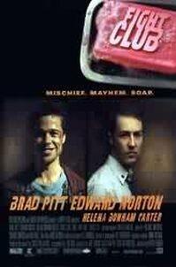 Poster met Edward Norton en Brad Pitt (c) 1999 Fox