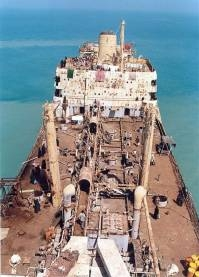 Het schip Jazireh ahani