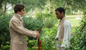 12 Years a Slave: Benedict Cumberbatch (William Ford) en Chiwetel Ejiofor (Solomon Northup)