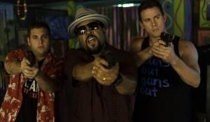 22 Jump Street: Jonah Hill (Schmidt), Ice Cube (Captain Dickson) en Channing Tatum (Jenko)