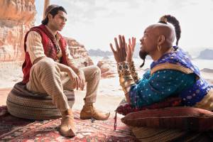 Aladdin 3D: Billy Magnussen (Prince Anders) en Will Smith (Genie)