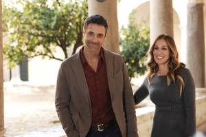 All Roads Lead to Rome: Raoul Bova (Luca) en Sarah Jessica Parker (Maggie)