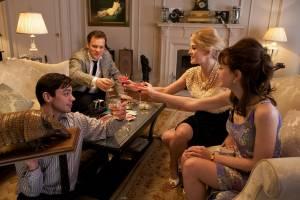 Dominic Cooper (Danny), Carey Mulligan (Jenny), Rosamund Pike (Helen) en Peter Sarsgaard (David)