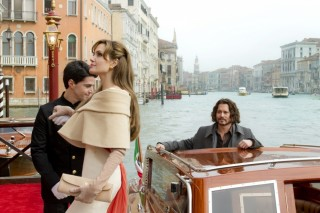 Johnny Depp en Angelina Jolie in The Tourist