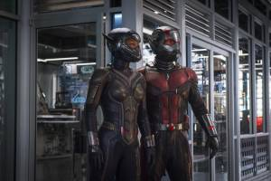 Ant-Man Marathon 3D: Evangeline Lilly (Hope Van Dyne / Wasp) en Paul Rudd (Scott Lang / Ant-Man)