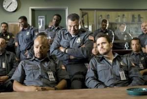 Armored: Matt Dillon (Mike Cochrone), Laurence Fishburne (Baines) en Columbus Short (Ty Hackett)