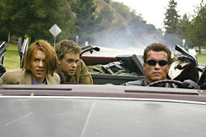 Claire Danes, Nick Stahl en Arnold Schwarzenegger in Terminator 3: Rise of the Machines