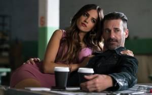 Baby Driver: Eiza González (Darling) en Jon Hamm (Buddy)