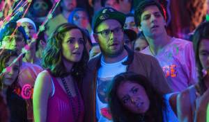Bad Neighbours: Rose Byrne (Kelly Radner) en Seth Rogen (Mac Radner)