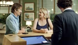 Before Midnight: Julie Delpy (Celine) en Ethan Hawke (Jesse)