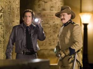 Ben Stiller en Robin Williams in Night at the Museum