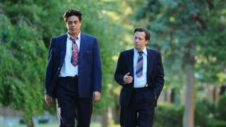 Benicio Del Toro en Mathieu Amalric in Jimmy P.