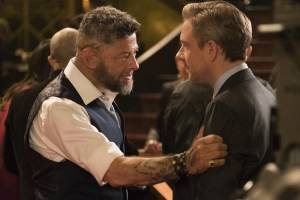 Black Panther 3D: Andy Serkis (Ulysses Klaue / Klaw) en Martin Freeman (Everett K. Ross)
