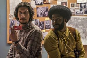 BlacKkKlansman: Adam Driver (Flip Zimmerman) en John David Washington (Ron Stallworth)