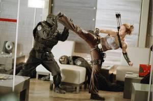 Jessica Biel in actie