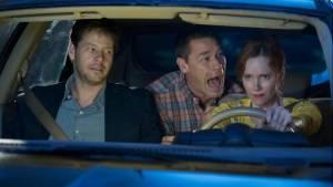 Blockers: Ike Barinholtz (Hunter), John Cena (Mitchell) en Leslie Mann (Lisa)