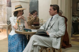 Marion Cotillard en Brad Pitt in Allied