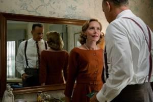 Bridge of Spies: Amy Ryan (Mary Donovan) en Tom Hanks (James Donovan)
