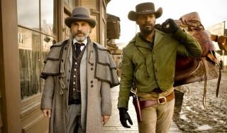 Christoph Waltz en Jamie Foxx in Django Unchained