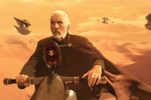 Christopher Lee in Star Wars: Episode II - Attack of the Clones