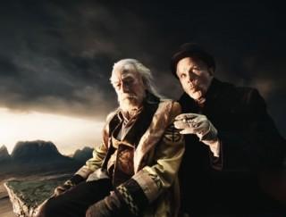 Christopher Plummer en Tom Waits in The Imaginarium of Doctor Parnassus