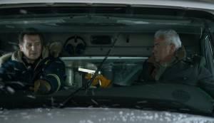 Cold Pursuit: Liam Neeson (Nels) en Tom Jackson (White Bull)
