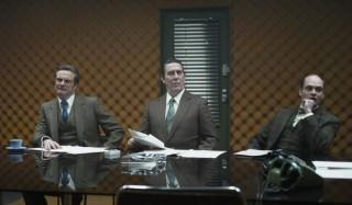 Colin Firth en David Dencik in Tinker, Tailor, Soldier, Spy