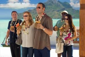 Couples Retreat: Malin Akerman (Ronnie), Kristin Davis (Lucy), Jon Favreau (Joey), Faizon Love (Shane) en Vince Vaughn (Dave)