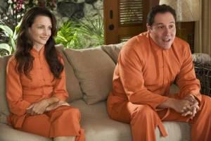 Couples Retreat: Kristin Davis (Lucy) en Jon Favreau (Joey)