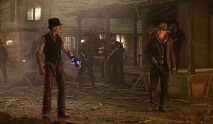 Cowboys & Aliens: Daniel Craig (Jake Lonergan) en Harrison Ford (Col. Woodrow Dolarhyde)