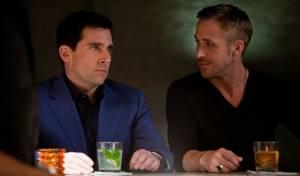 Crazy, Stupid, Love.: Steve Carell (Cal Weaver) en Ryan Gosling (Jacob Palmer)