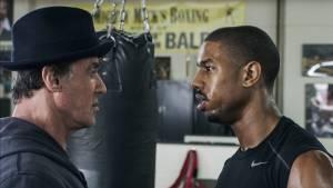 Creed: Sylvester Stallone (Rocky Balboa) en Michael B. Jordan (Adonis Johnson)
