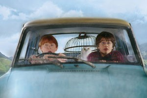 Rupert Grint en Daniel Radcliffe in Harry Potter and the Chamber of Secrets